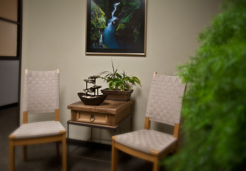 Waiting Room at Texas School of Massage, Houston Texas